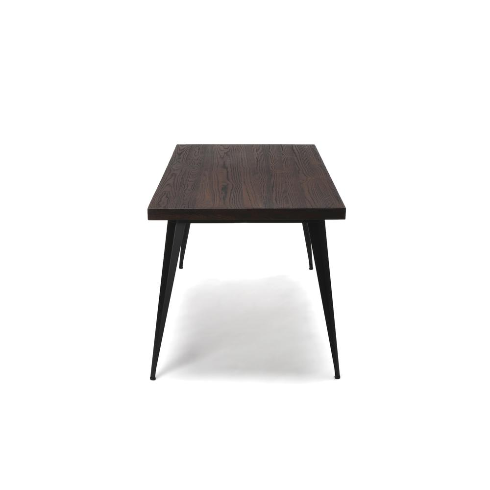 "OFM Edge Series 62"" Modern Wood Desk - Walnut (33362-WLT). Picture 4"