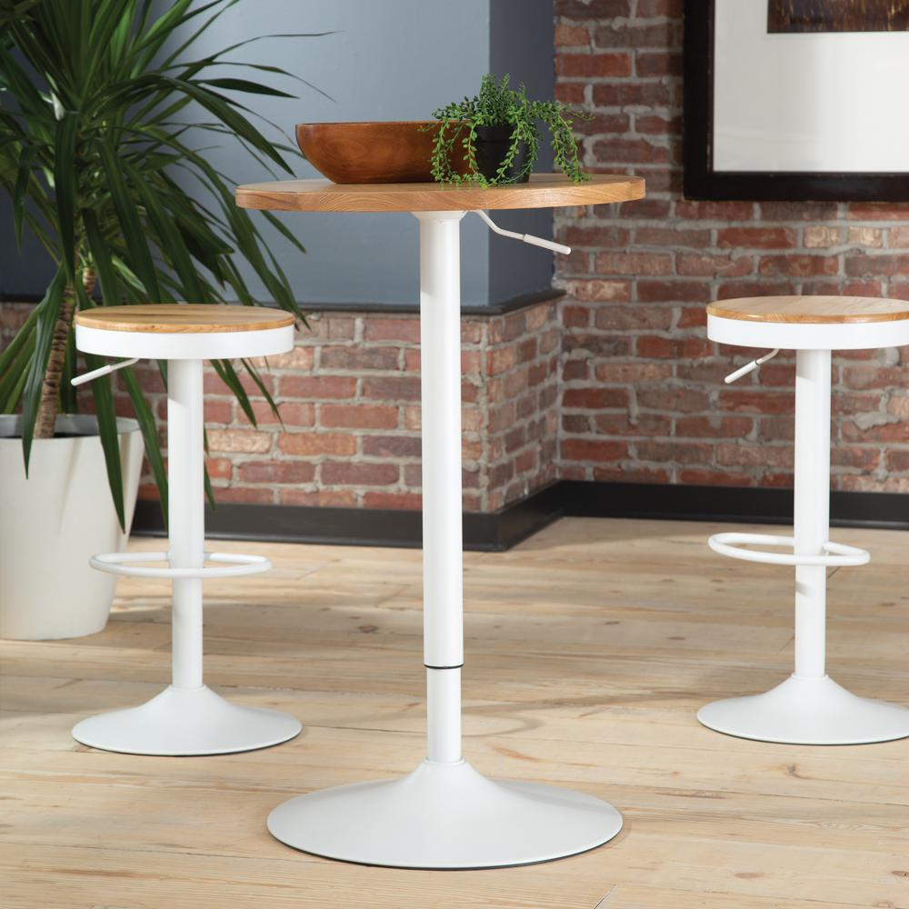 "The OFM 161 Collection Industrial Modern 33"" to 42"" Adjustable Pub Table provides a blank canvas that pairs beautifully with any of the stool seating from the 161 Collection. The pub table's height ad. Picture 12"