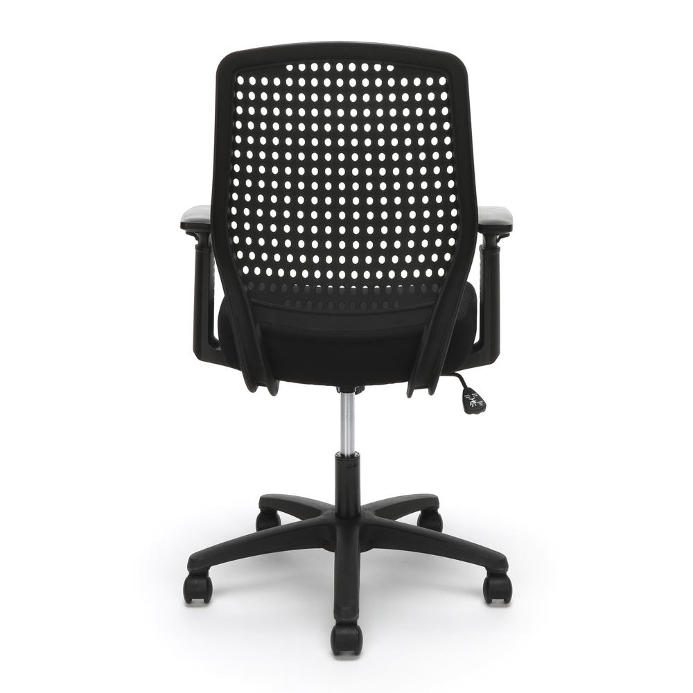 Essentials by OFM ESS-2055 Plastic Back Ergonomic Task Chair, Black with Black. Picture 3