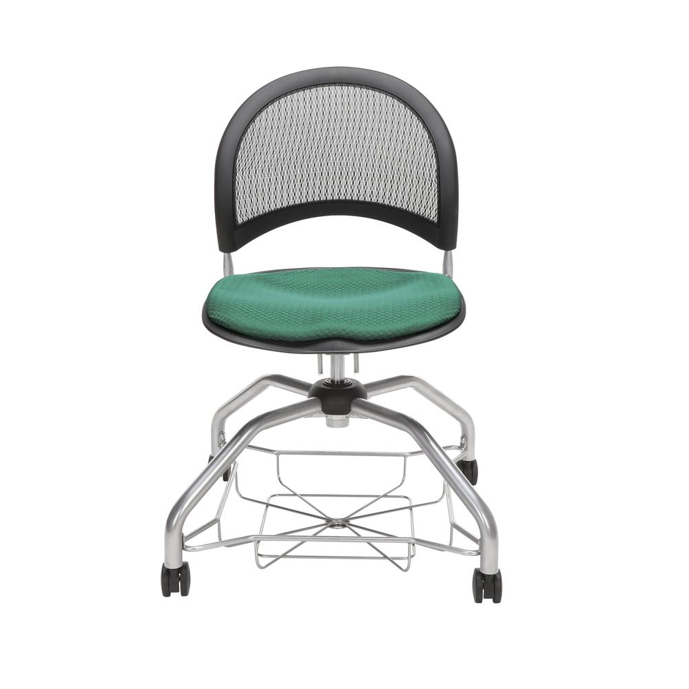 OFM Moon Foresee Series Chair with Removable Fabric Seat Cushion - Student Chair, Shamrock Green (339). Picture 2