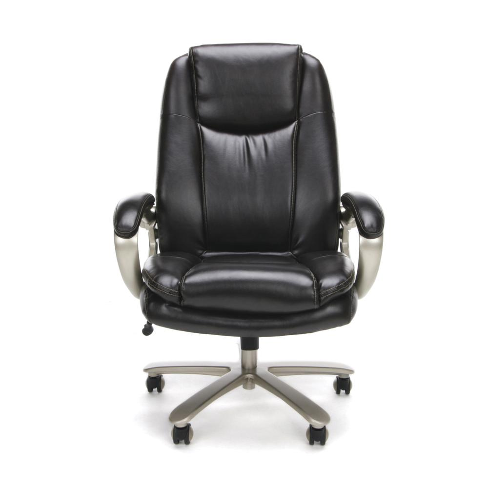 OFM ESS-201 Big and Tall Leather Office Chair with Arms, Brown/Bronze. Picture 2