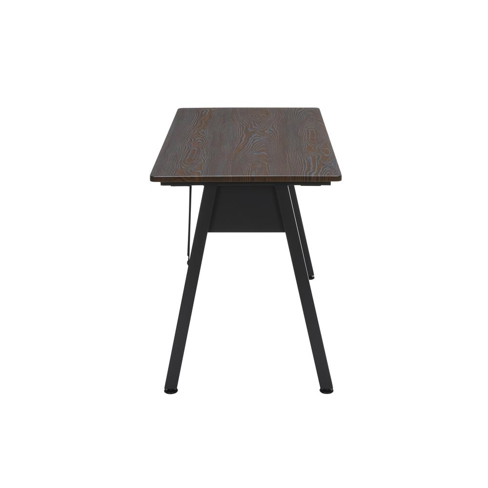 "OFM Essentials Collection 48"" Table Desk, in Wenge Woodgrain (ESS-1050-BLK-WEN). Picture 4"
