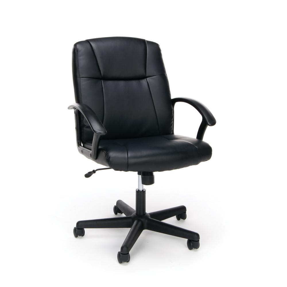 OFM ESS-6000 Bonded Leather Chair with Arms. Picture 1