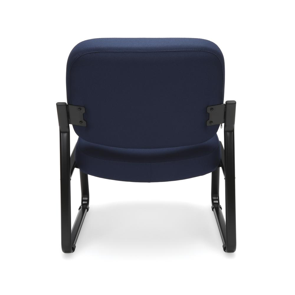 OFM Model 409 Big and Tall Fabric Armless Guest and Reception Chair, Navy. Picture 3