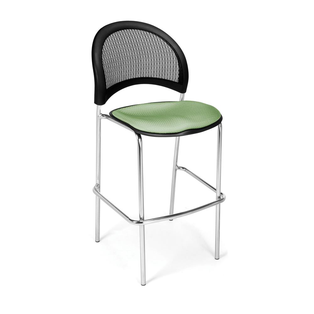 OFM Model 338C Fabric Cafe Height Chair, Sage Green with Chrome Finish Base. Picture 1