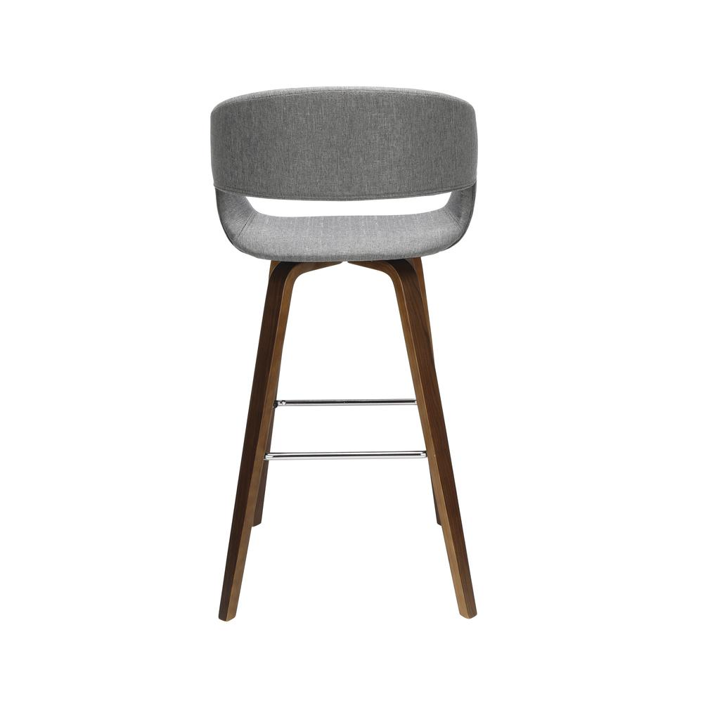 "The OFM 161 Collection Mid Century Modern 26"" Low Back Bentwood Frame Stool, Fabric Upholstery, 2 Pack, in Light Gray, is a graceful stool that provides a retro look for your elevated seating needs.. Picture 3"