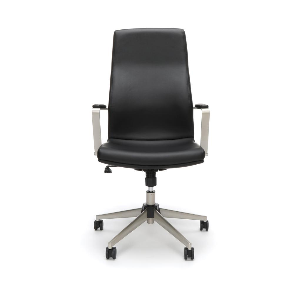 OFM Model 567 High-Back Bonded Leather Manager's Chair, Black. Picture 2