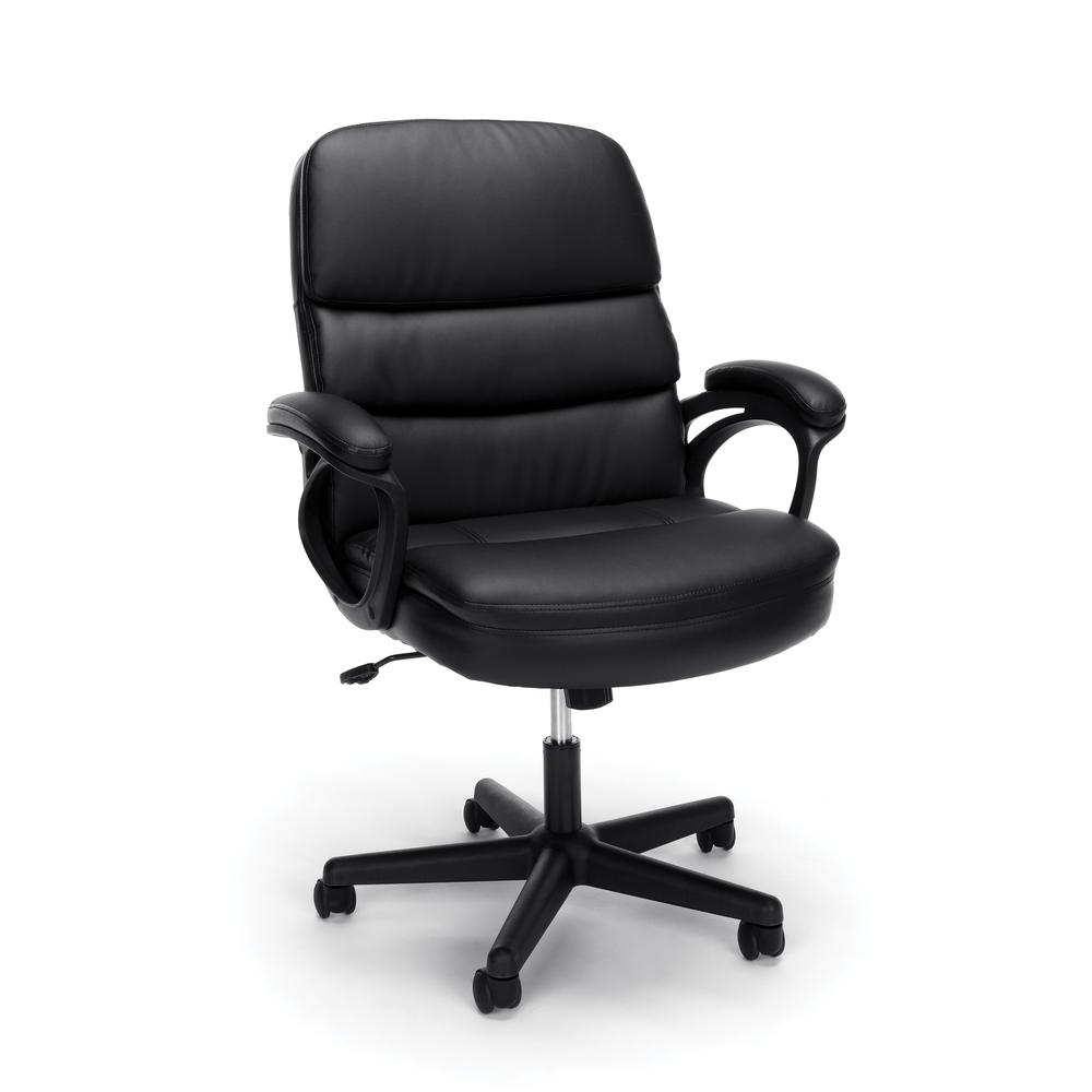 OFM ESS-6025 Bonded Leather Manager's Chair with Arms. Picture 1