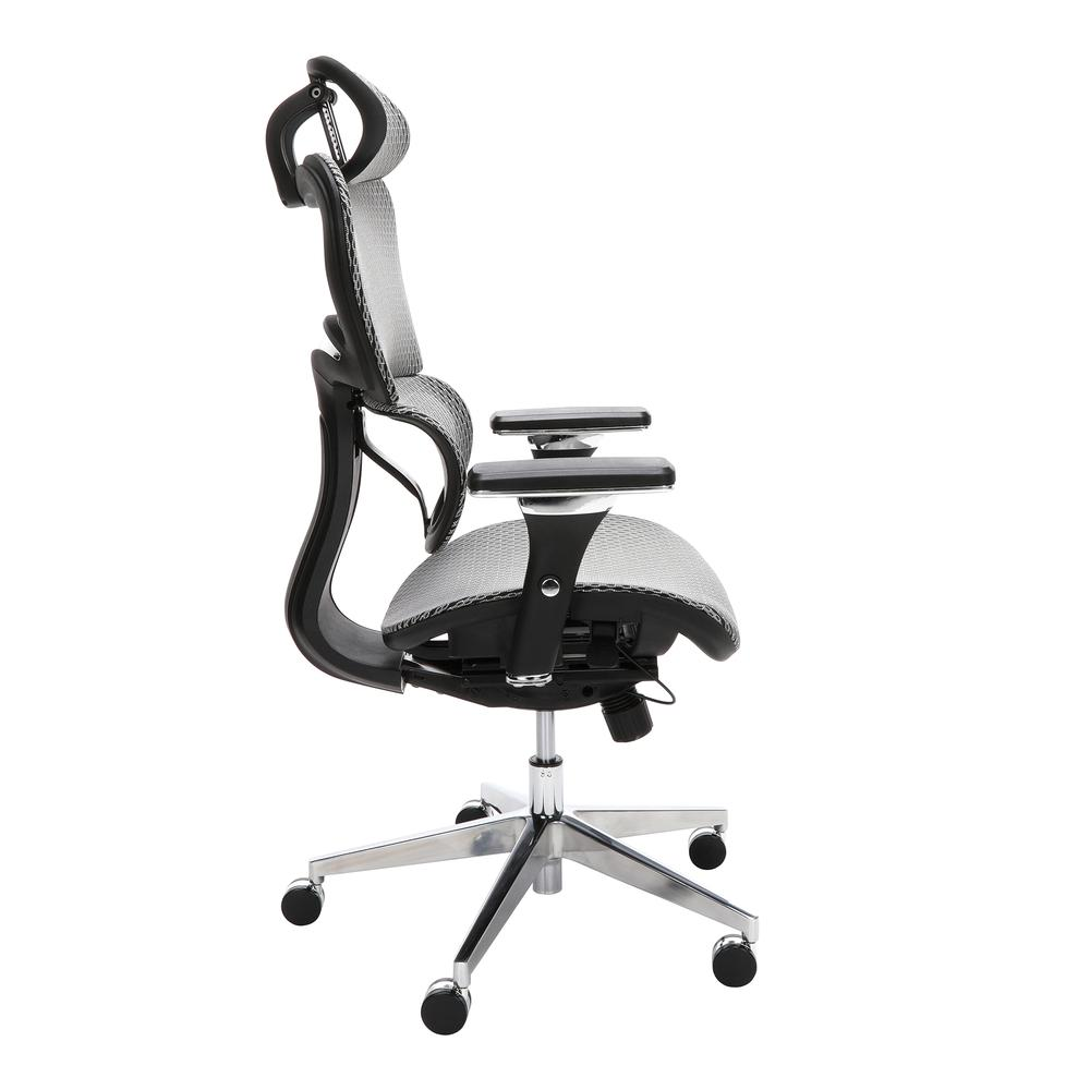 OFM Core Collection Ergo Office Chair featuring Mesh Back and Seat with Head Rest, in Gray (540-GRY). Picture 4