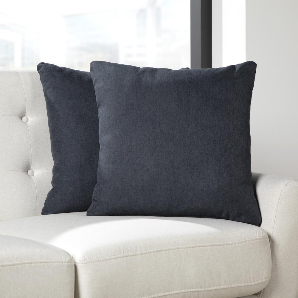 161 Collection Mid Century Modern 2-Pack 18 x 18 Accent Pillows, Navy. Picture 11