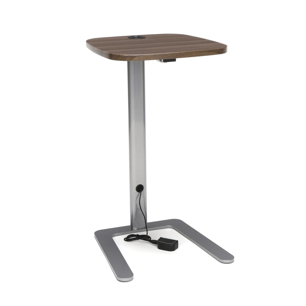 OFM Model ACCTAB Accent Table with USB Grommet, Walnut. Picture 1