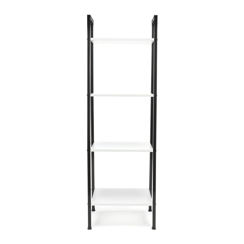 OFM ESS-1045 4-Shelf Free Standing Ladder Bookshelf with Black Frame. Picture 2