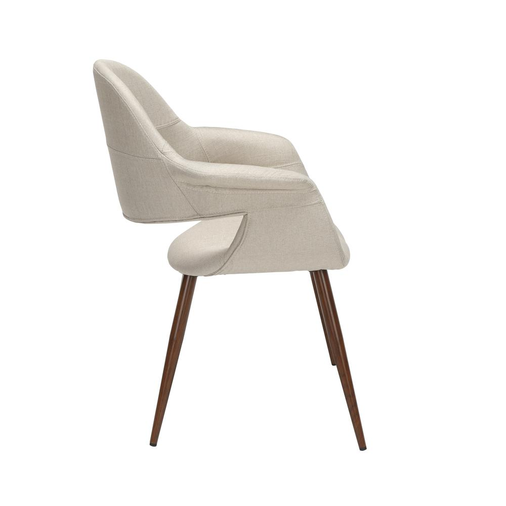 The OFM 161 Collection Mid Century Modern Fabric Accent Chair with Arms, 2 Pack, in Beige, is reminiscent of the original MCM chair. This quintessential mid century modern accent dining chair is sold. Picture 4