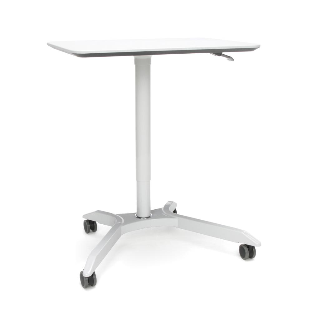 OFM Mesa Series Model 66100 Height Adjustable Mobile Podium, White. Picture 1