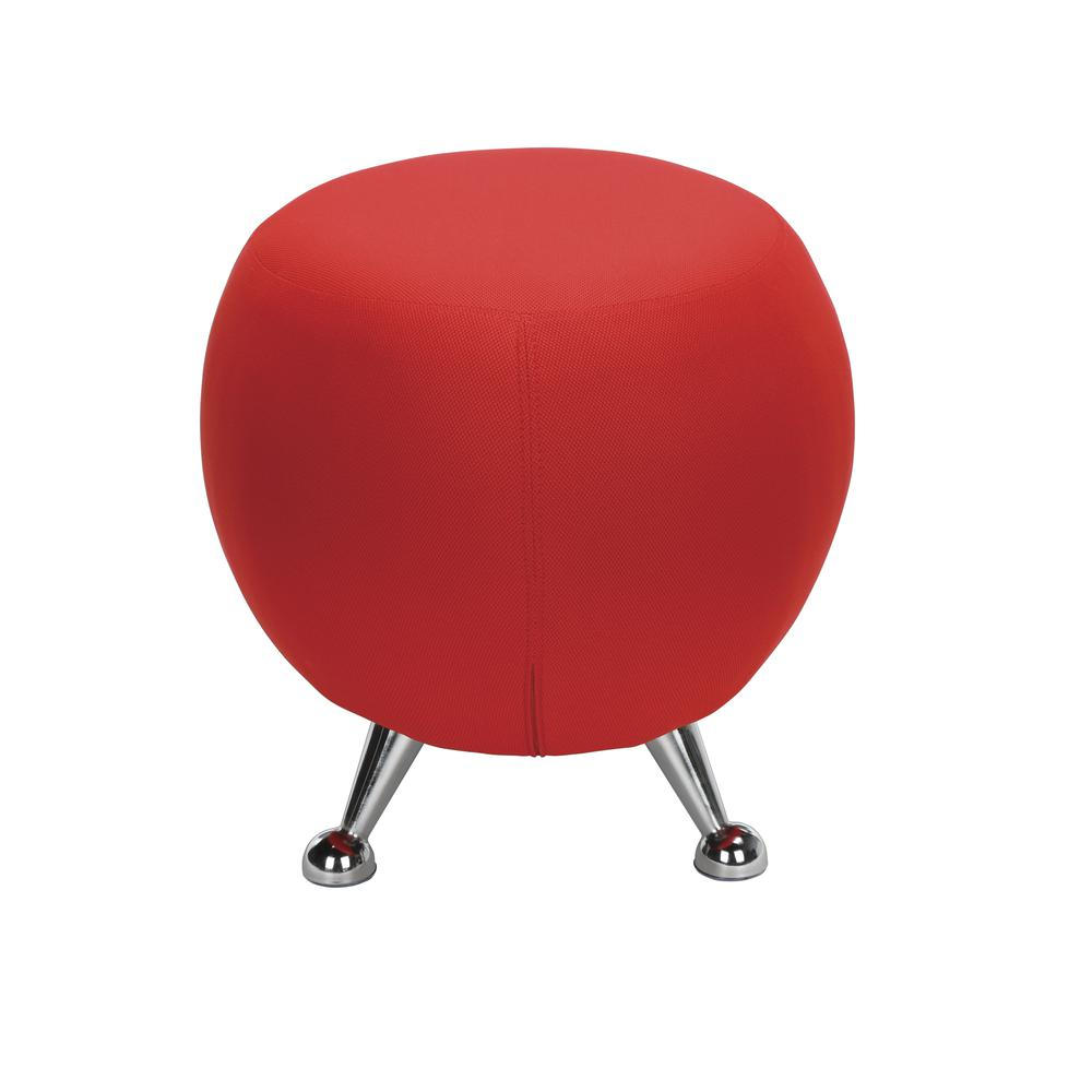 OFM Jupiter Series Fabric Ball Stool, in Red (2001-2312). Picture 5