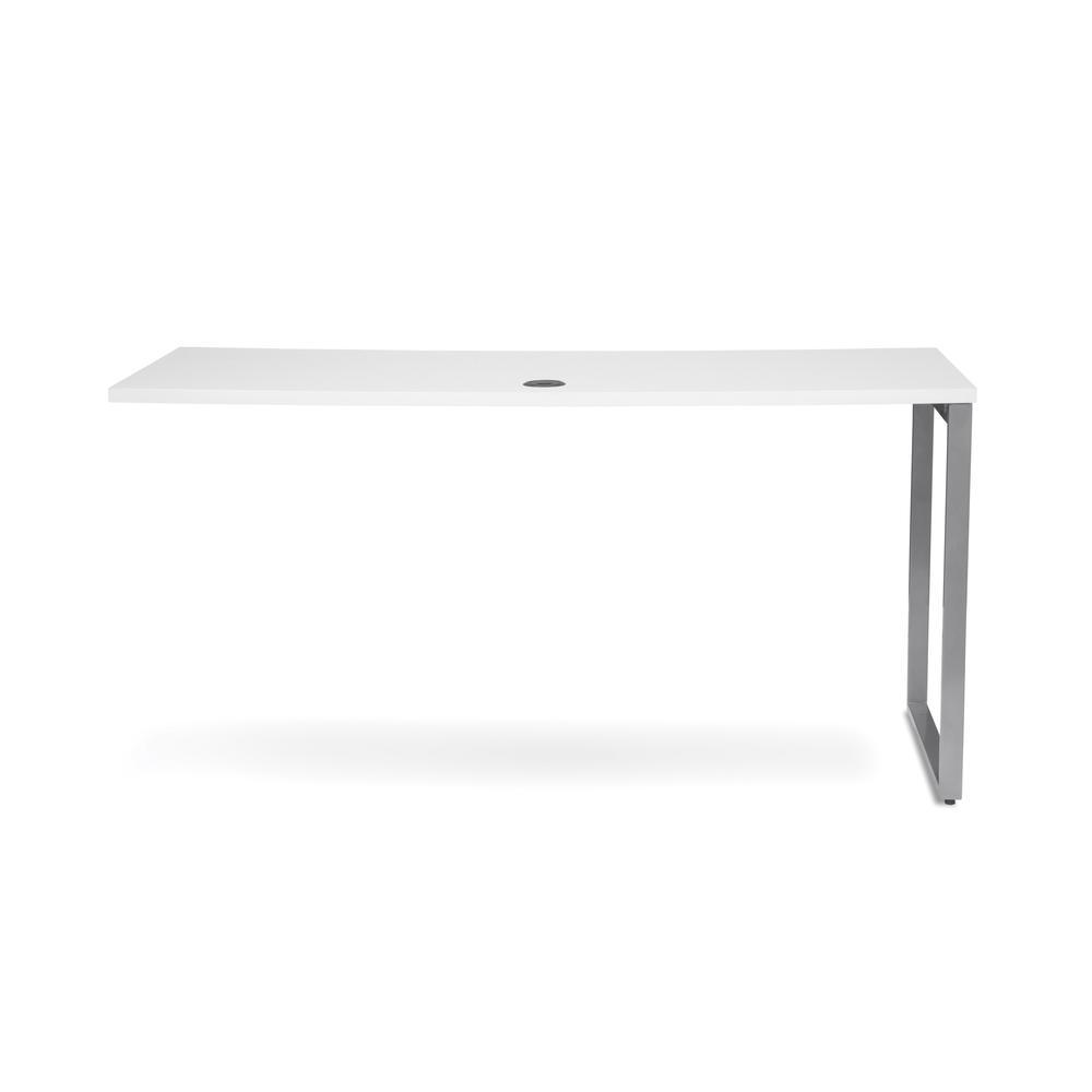 OFM Fulcrum Series 60x24 Credenza Desk, Desk Shell for Office, White (CL-C6024-WHT). Picture 3