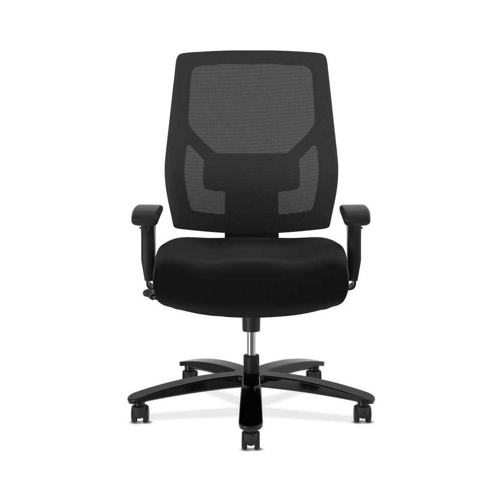 HON Crio High-Back Big and Tall Chair - Fabric Mesh Back Computer Chair for Office Desk, Black (HVL581). Picture 2