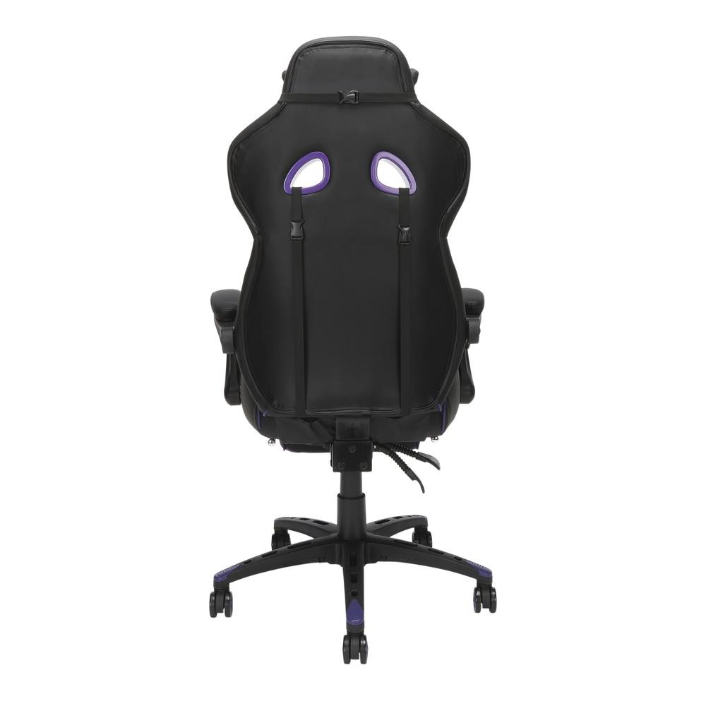 RESPAWN 110 Racing Style Gaming Chair with Footrest, in Purple. Picture 3