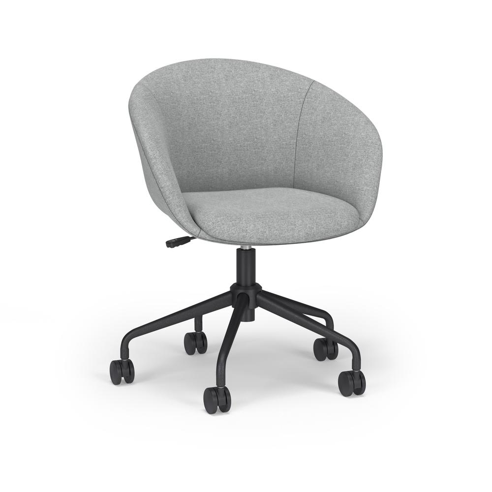 HON Basyx Monroe Fabric Upholstered Task Chair, Office Chair, in Gray (BSX101VA19T). Picture 1