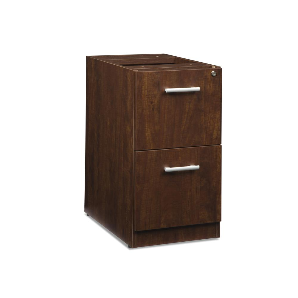 OFM Fulcrum Series Locking Pedestal, 2-Drawer Filing Cabinet, Cherry (CL-FF-CHY). Picture 1