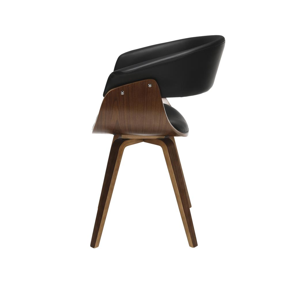 The OFM 161 Collection Mid Century Modern Bentwood Frame Dining Chair with Flare Arms, Vinyl Back and Seat Cushion, in Black, bring a touch of mid century to any room or dining set. These dining chair. Picture 5
