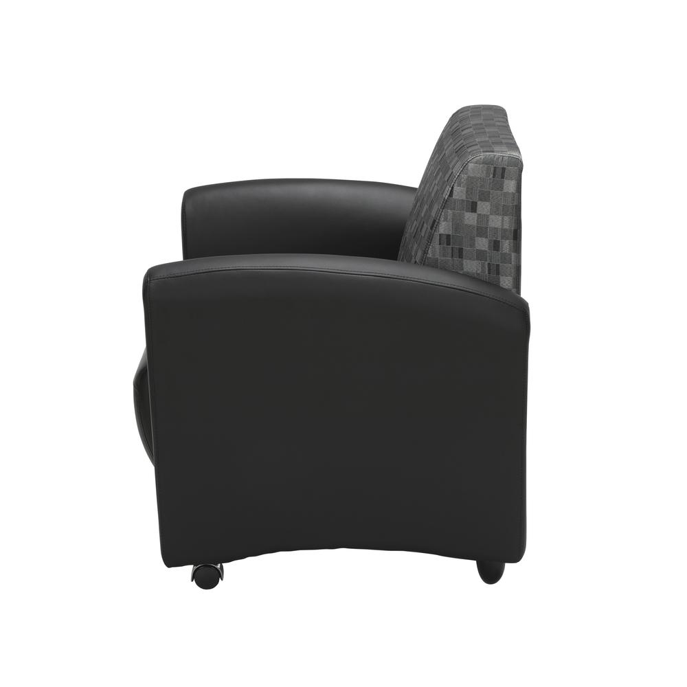 OFM InterPlay Series Single Seat Chair, in Nickel/Black (821-NCKL-PU606NT). Picture 5