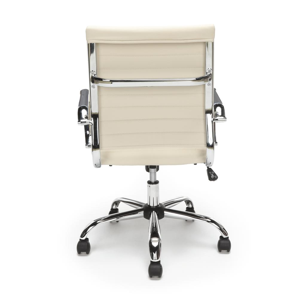 OFM ESS-6095 Soft Ribbed Bonded Leather Conference Chair, Ivory. Picture 3