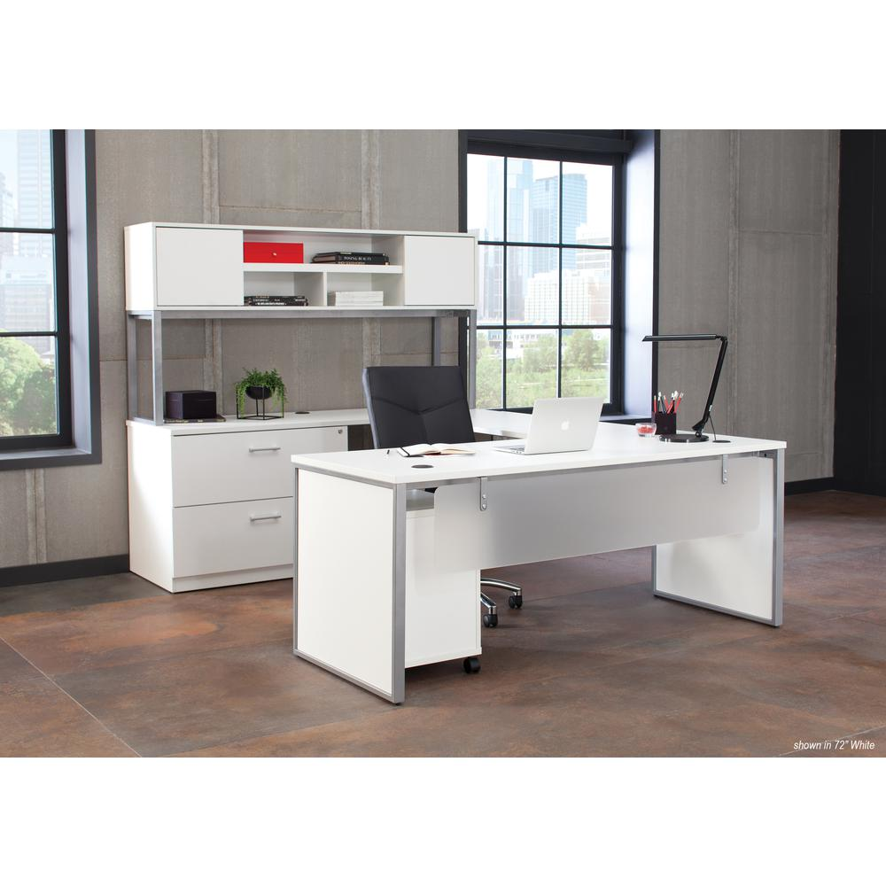 """OFM Fulcrum Series 60"""" Hutch with Doors, Office Cabinet for Storage, White (CL-H6015-WHT). Picture 7"""