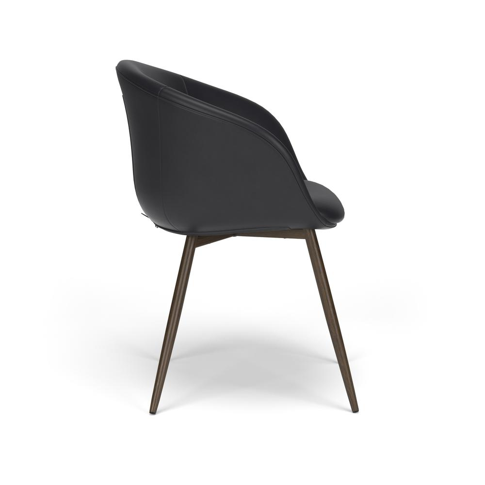 HON Basyx Monroe Bonded Leather Upholstered Guest Chair, in Black (BSX301SB11MW). Picture 4