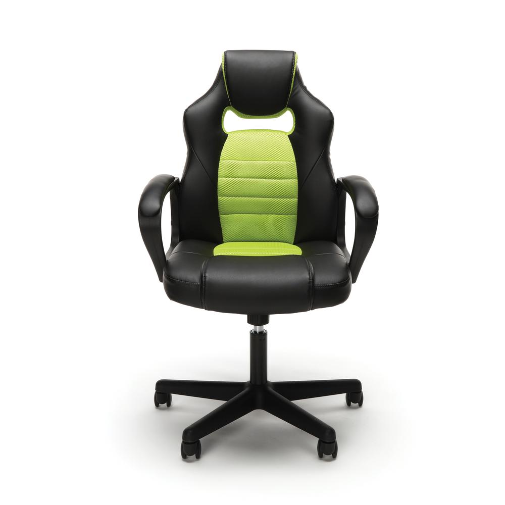 Essentials by OFM ESS-3083 Racing Style Gaming Chair, Green. Picture 2