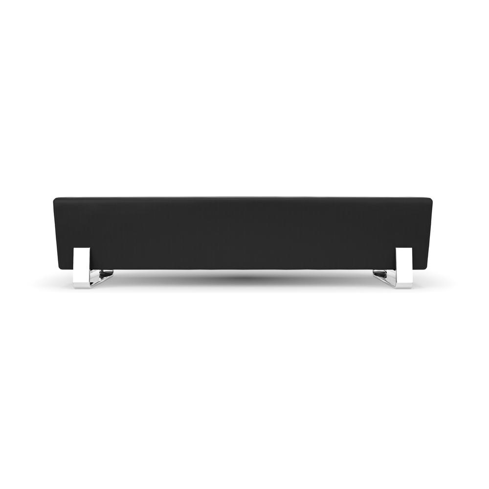 OFM Model 4003C Triple Seating Bench, Textured Vinyl with Chrome Base, Midnight. Picture 2