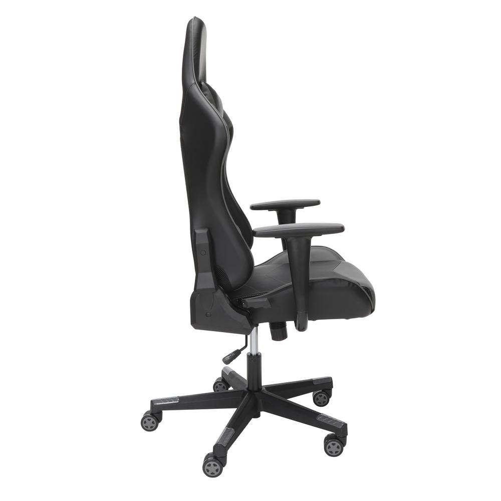 Essentials Collection High Back PU Leather Gaming Chair, in Grey (ESS-6075-GRY). Picture 4
