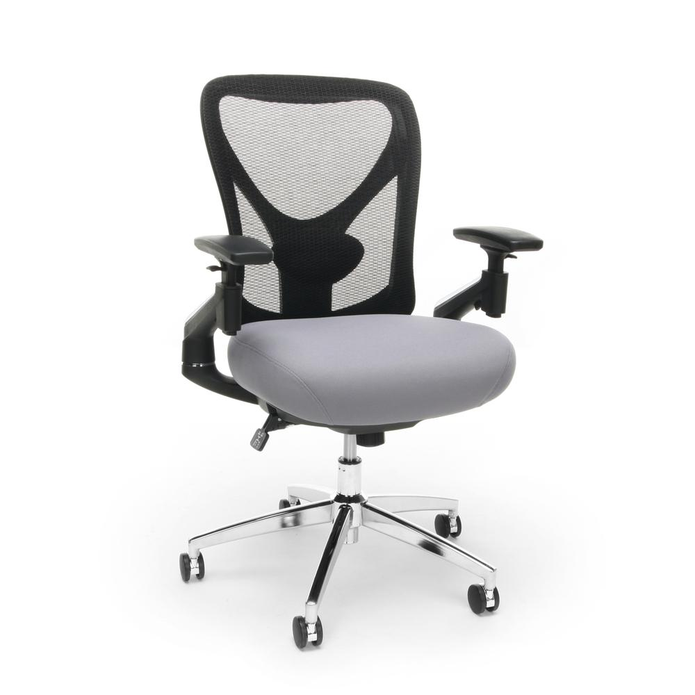 OFM Stratus Series Model 257 24-Hour Big & Tall High-Back Mesh Chair, Gray. Picture 1
