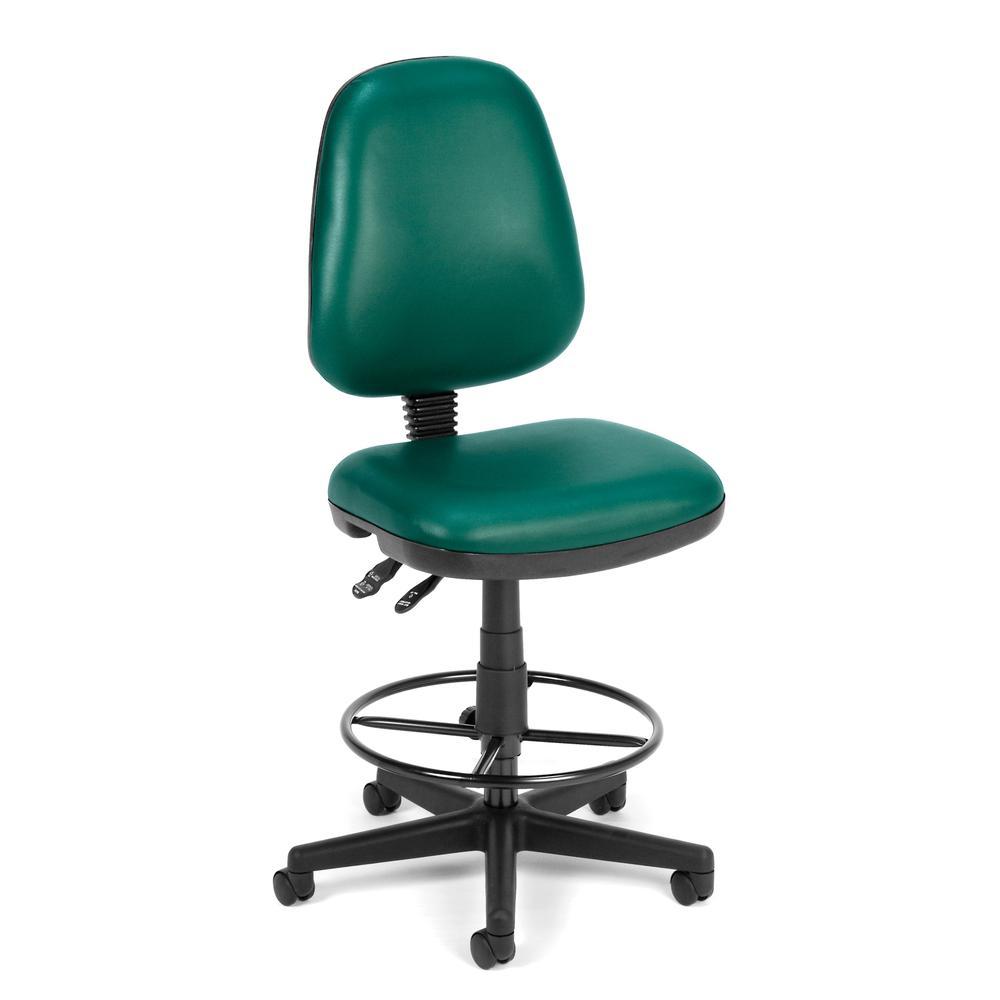 OFM Model 119-VAM-DK Armless Swivel Task Chair with Kit, Anti-Microb Vinyl. Picture 1