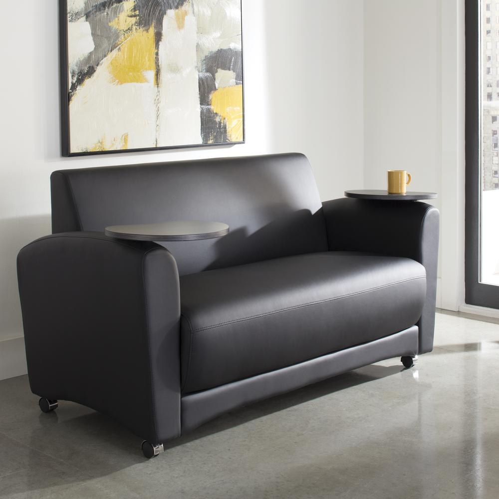 OFM  Soc Seating Sofa with Double Tungsten Tablets, (822-PU606-TNGST). Picture 7