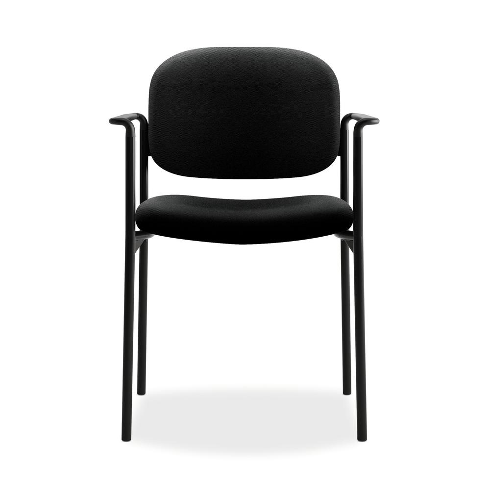 HON Scatter Guest Chair - Upholstered Stacking Chair with Arms, Office Furniture, Black (VL616). Picture 2