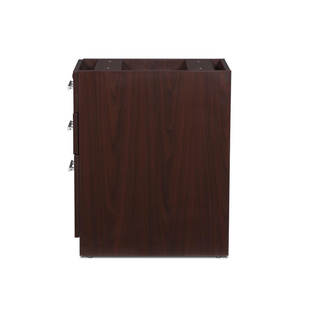 OFM Fulcrum Series Locking Pedestal, 3-Drawer Filing Cabinet, Mahogany (CL-BBF-MHG). Picture 5