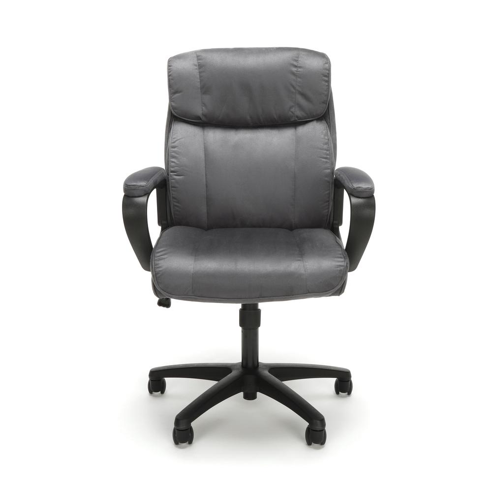 Essentials by OFM ESS-3082 Plush Microfiber Office Chair, Gray. Picture 2