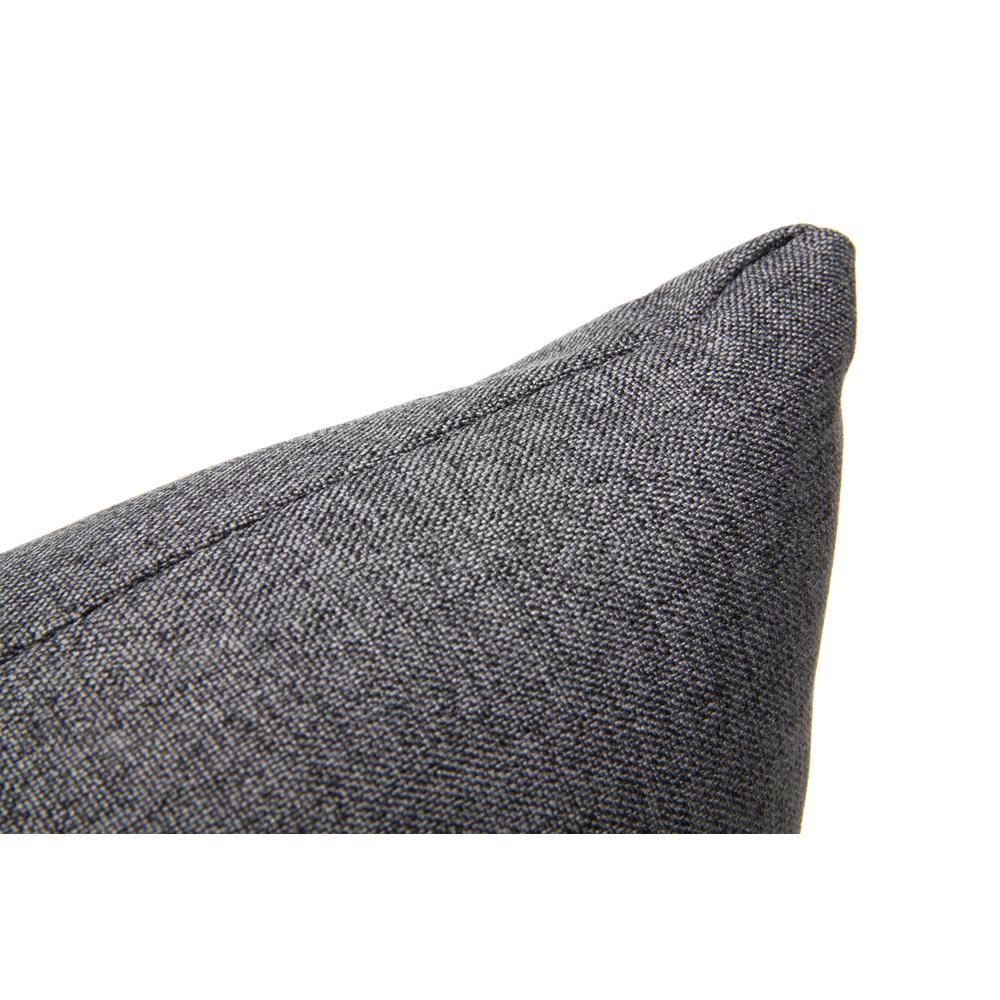 161 Collection Mid Century Modern 2-Pack 18 x 18 Accent Pillows, Dark Gray. Picture 8