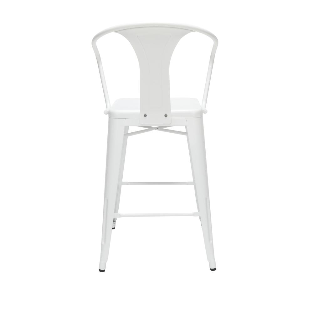 """The OFM 161 Collection Industrial Modern 26"""" Mid Back Metal Arm Chair Stools, 4 Pack, provide a comfortable, yet sophisticated, counter height seating solution for cafe tables and bars, suitable for i. Picture 3"""