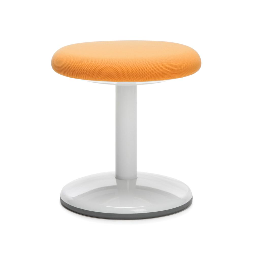 "OFM Orbit Series Model 2814-STA 14"" Fabric Static Stool, Orange. Picture 1"