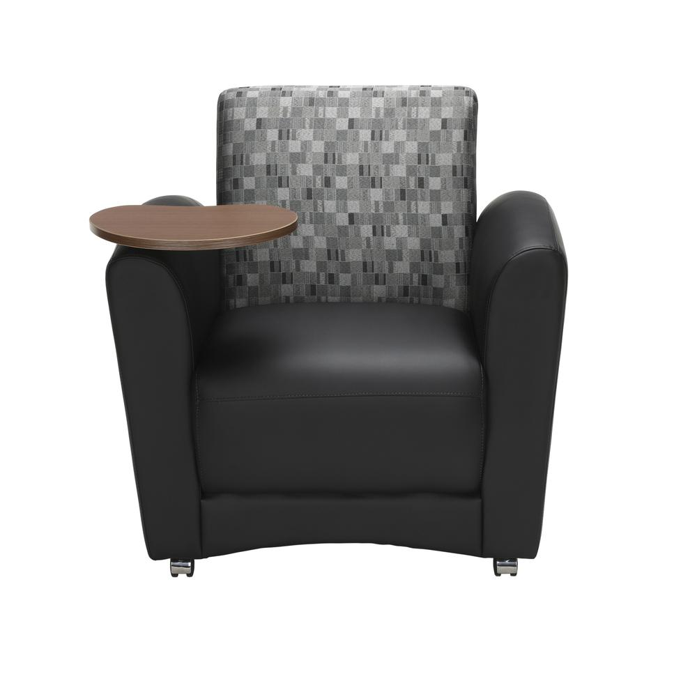 OFM  Single Seat Chair with Bronze Tablet,/Nickel (821-N-606-BRONZ). Picture 2