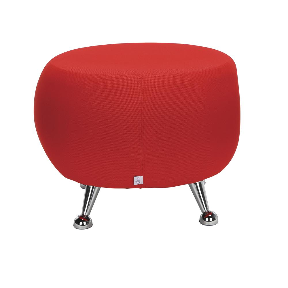 OFM Jupiter Series Fabric Ball Stool, in Red (2001-2312). Picture 3