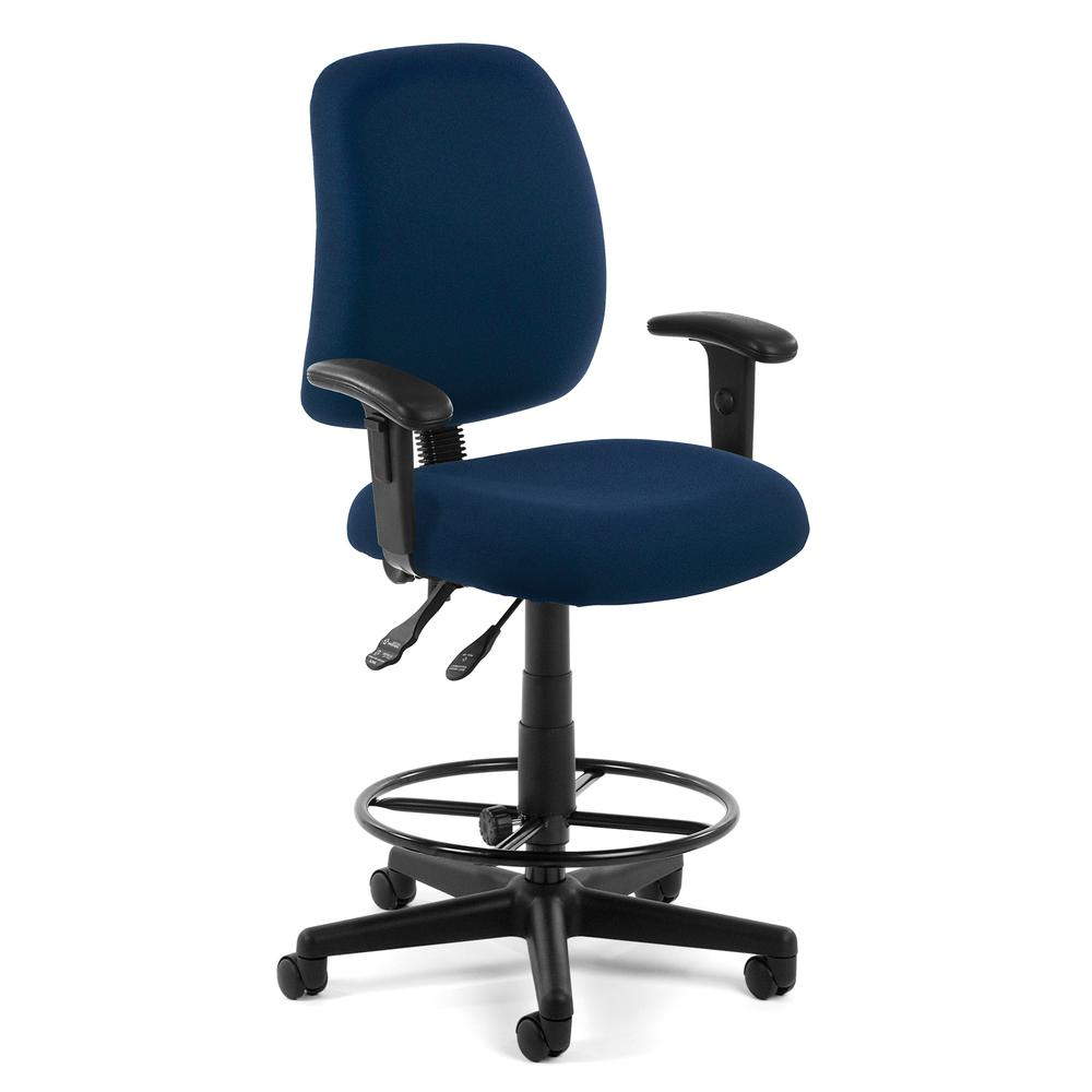 OFM Model 118-2-AA-DK Swivel Task Chair with Arms , Kit, Fabric, Mid-Back. Picture 1