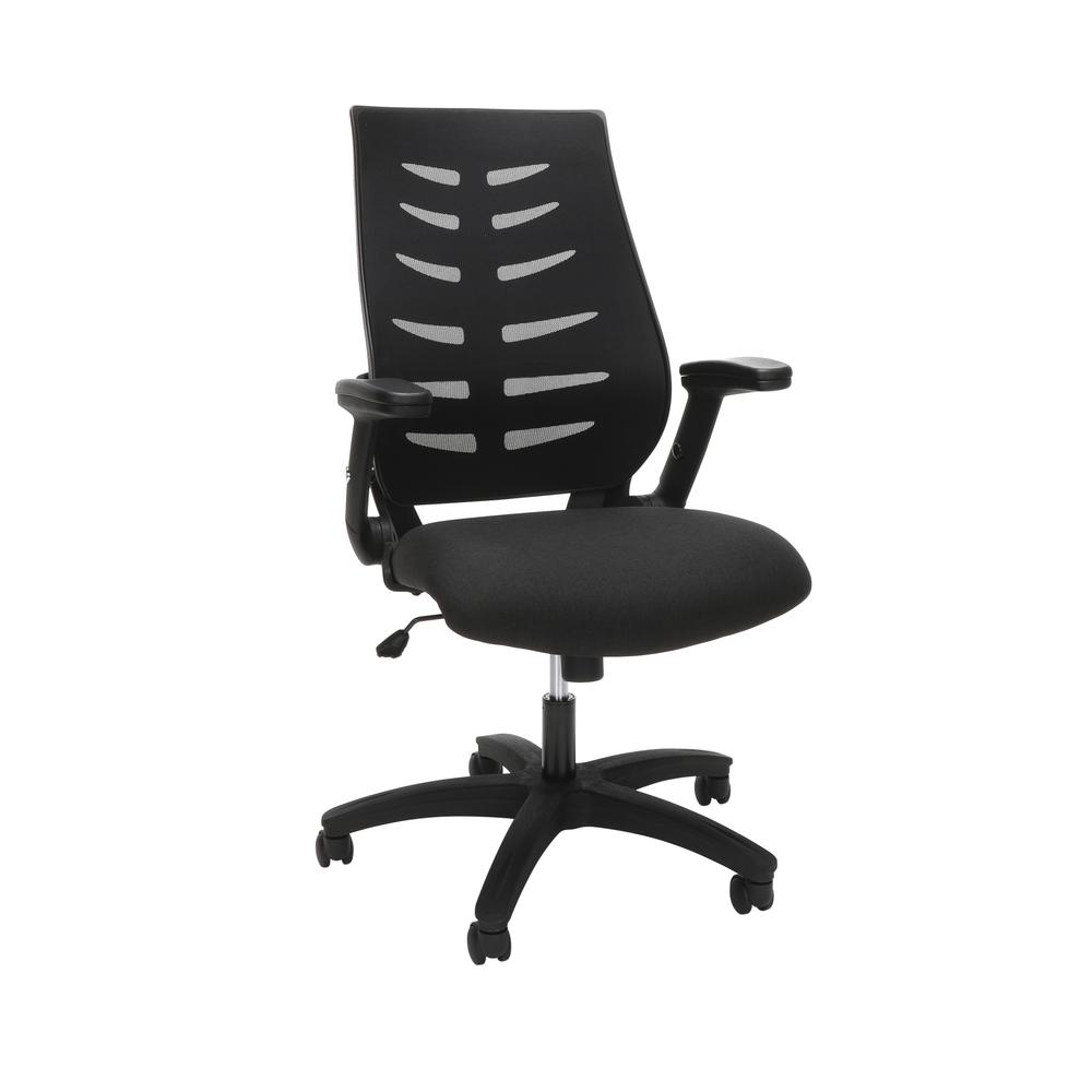 OFM Model 530-BLK Core Collection Midback Mesh Office Chair for Computer Desk, Black. Picture 1