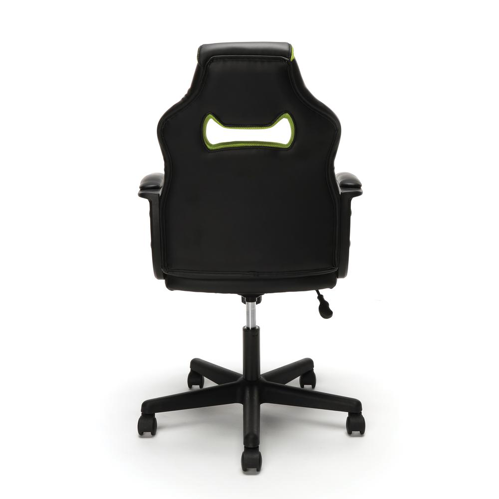 Essentials by OFM ESS-3083 Racing Style Gaming Chair, Green. Picture 3