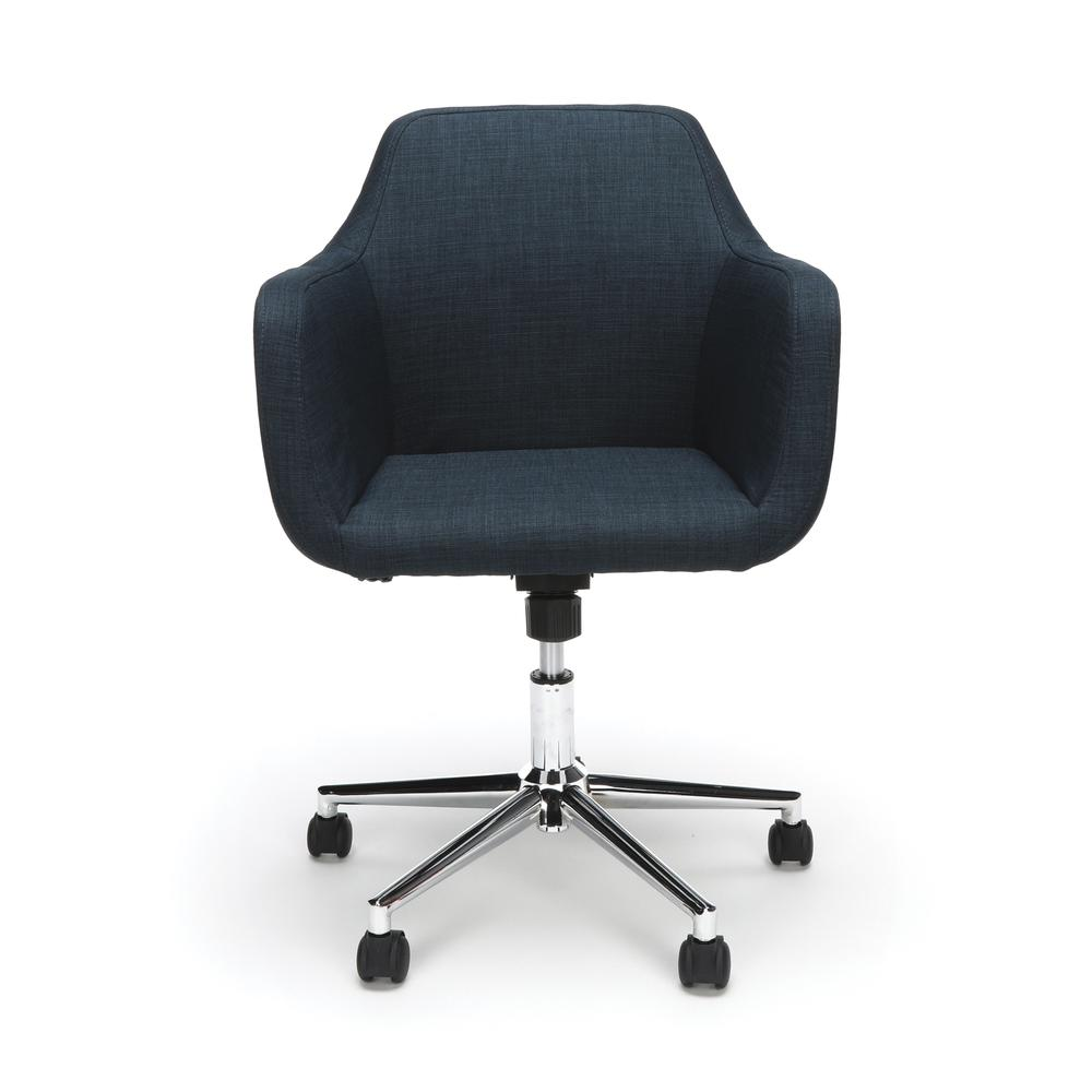 Essentials by OFM ESS-2085 Upholstered Home Office Desk Chair, Blue. Picture 2