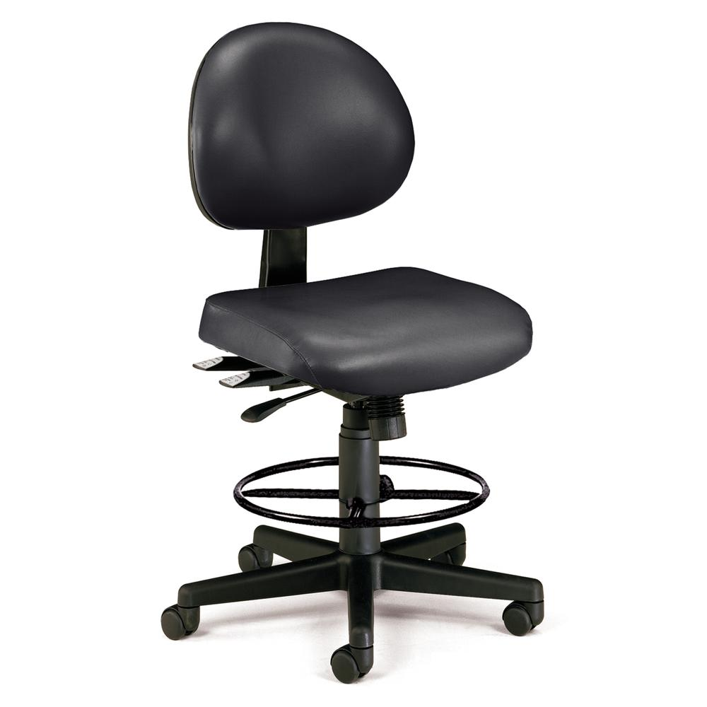 OFM 241-VAM-DK Armless Task Chair with Kit, Antimicrob Vinyl, Mid Back. Picture 1