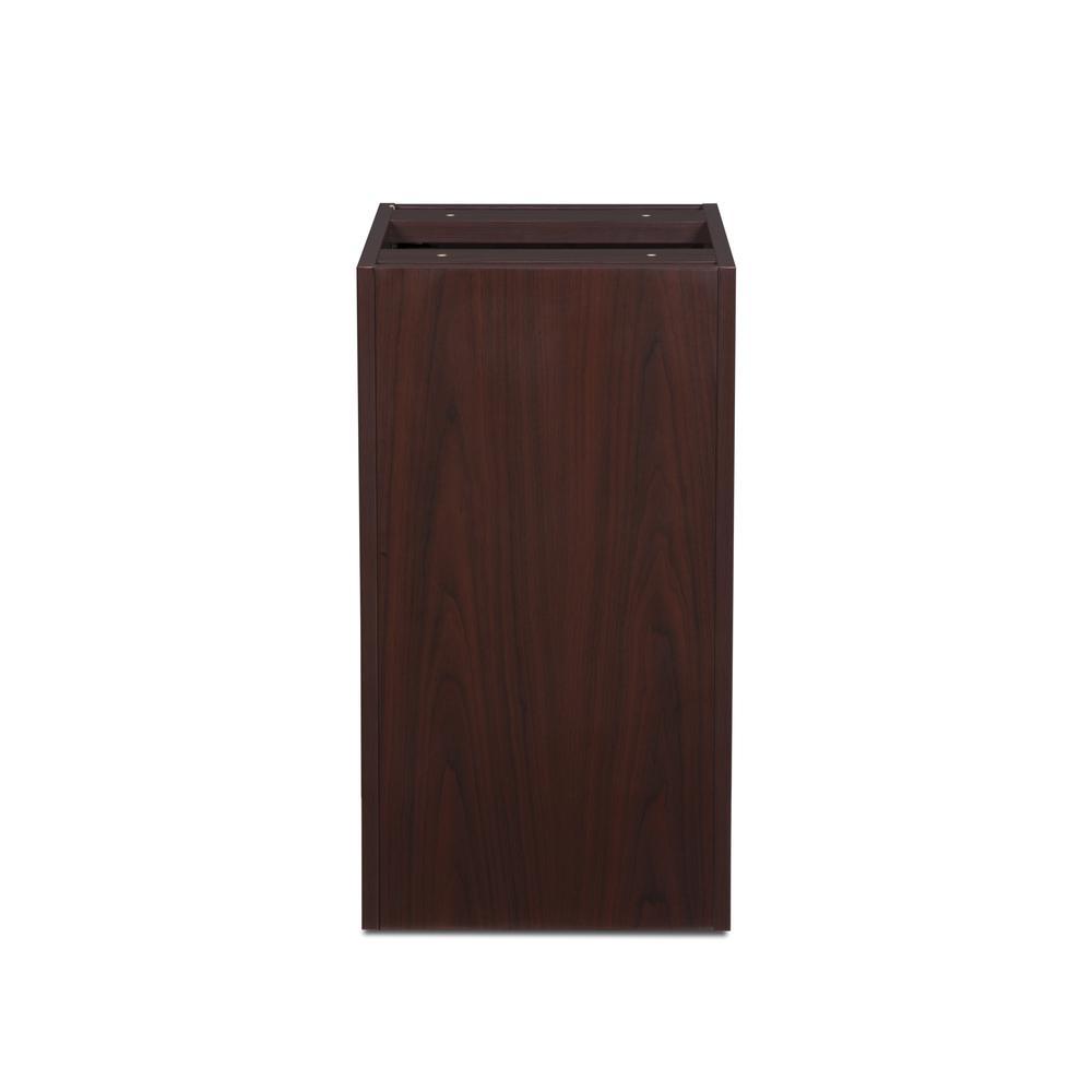 OFM Fulcrum Series Locking Pedestal, 3-Drawer Filing Cabinet, Mahogany (CL-BBF-MHG). Picture 3