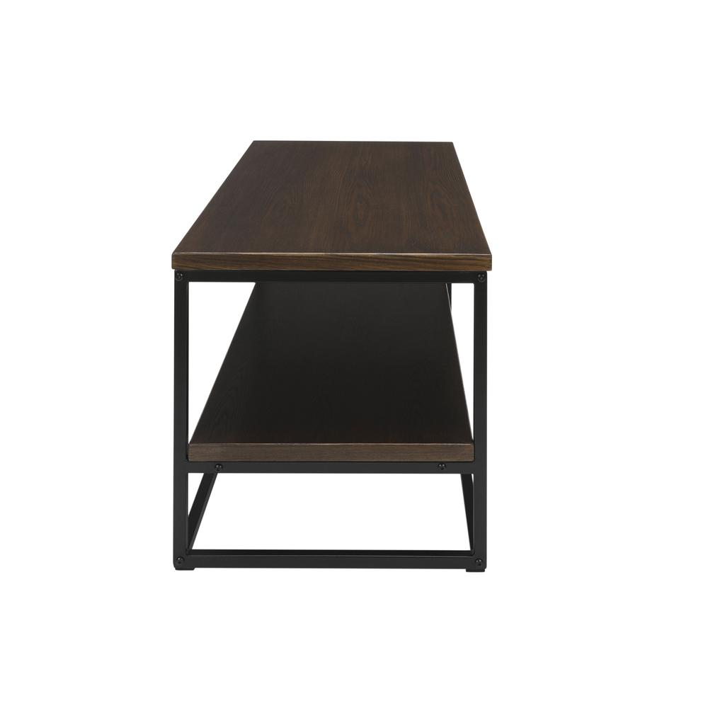 The OFM 161 Collection Industrial Modern Wood Top/Metal Frame Coffee Table with Wood Shelf is the perfect accent piece for any space as it blends easily in living rooms, recreational spaces, lobbies,. Picture 5
